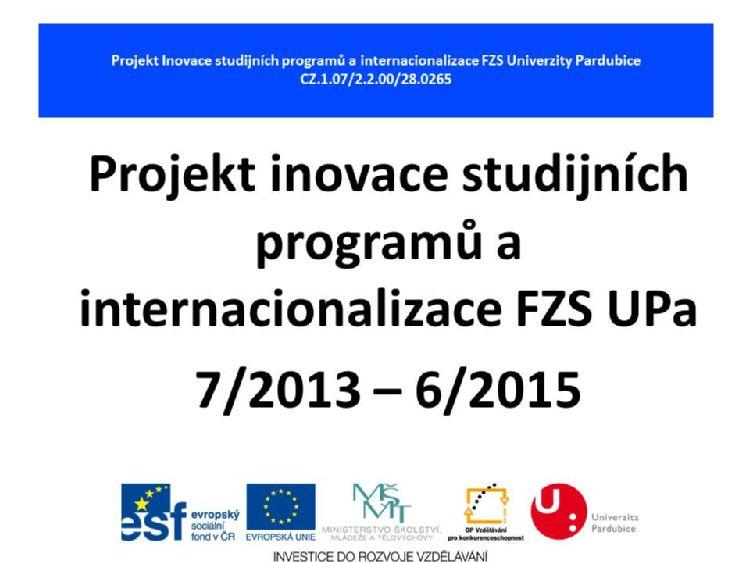 Prezentace z I. workshopu